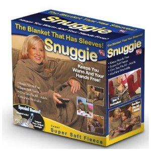 SNUGGIE Original Camel Fleece Blanket with Sleeves